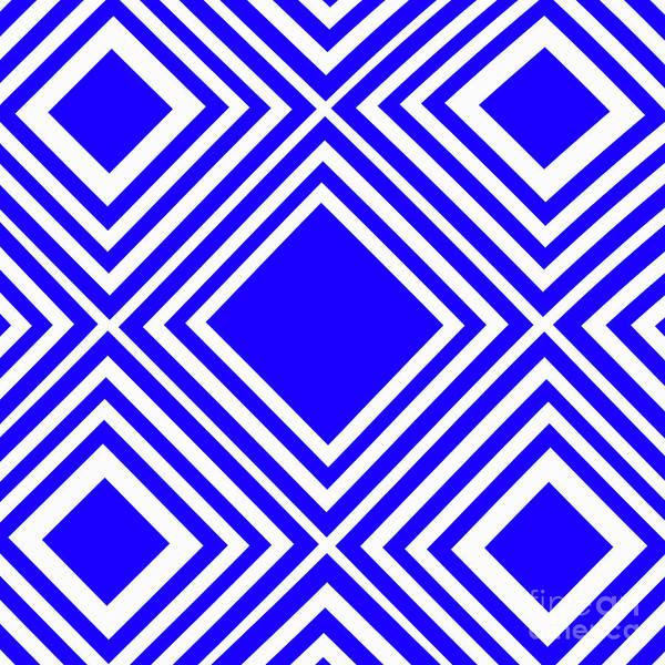 Wall Art - Photograph - Blue White Pattern By Kaye Menner by Kaye Menner