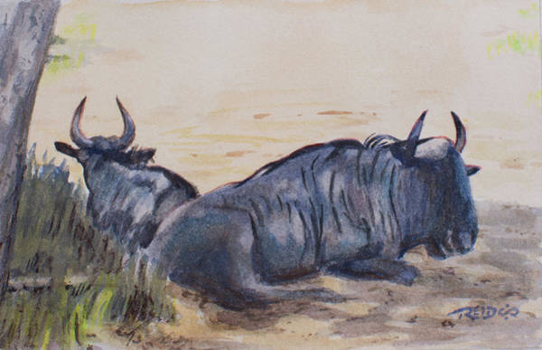 Painting - Blue Wildebeeste by Christopher Reid