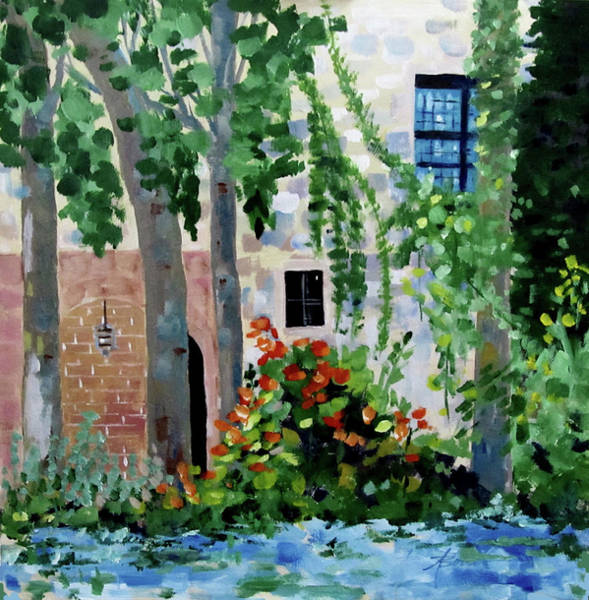 Painting - Blue Window by Adele Bower