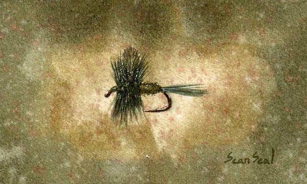 Fly Fishing Painting - Blue Winged Olive by Sean Seal