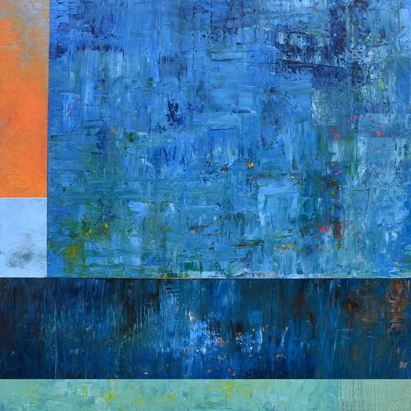 Painting - Blue With Orange by Michelle Calkins
