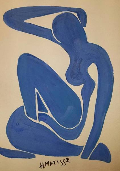 Wall Art - Painting - Blue Woman by Matisse