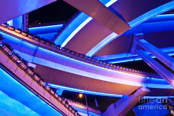 Wall Art - Photograph - Blue Yan'an  by Delphimages Photo Creations