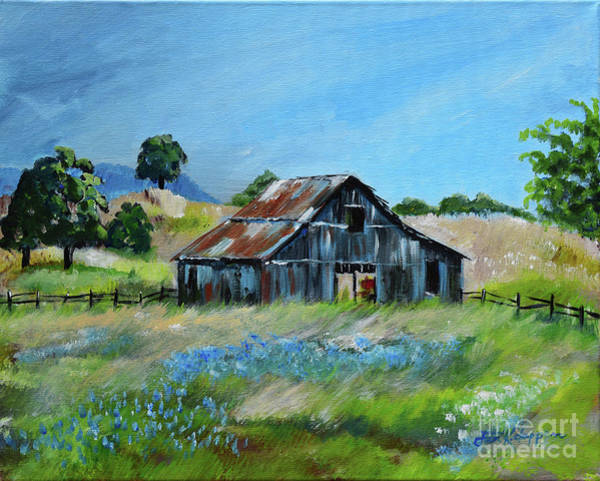 Painting - Bluebell Barn - Rustic Bar - Bluebellsn by Jan Dappen