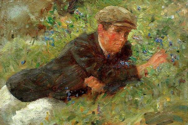 Painting - Bluebells by Henry Scott Tuke