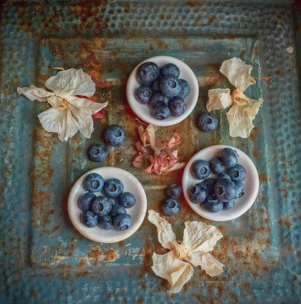 Photograph - Blueberries And Old Tin by Bellesouth Studio