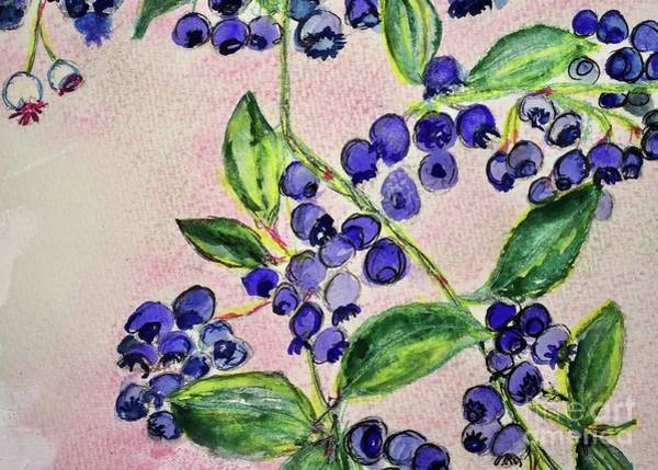 Painting - Blueberries by Kim Nelson