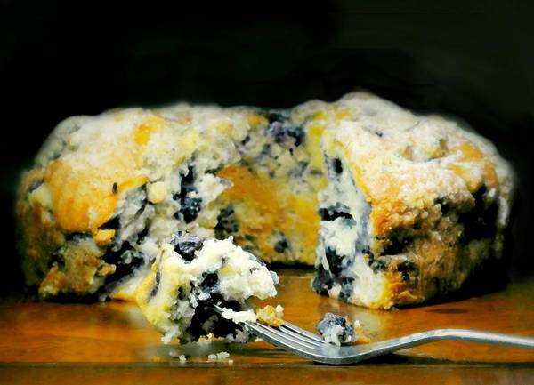 Wall Art - Photograph - Blueberry Butter Cake by Diana Angstadt