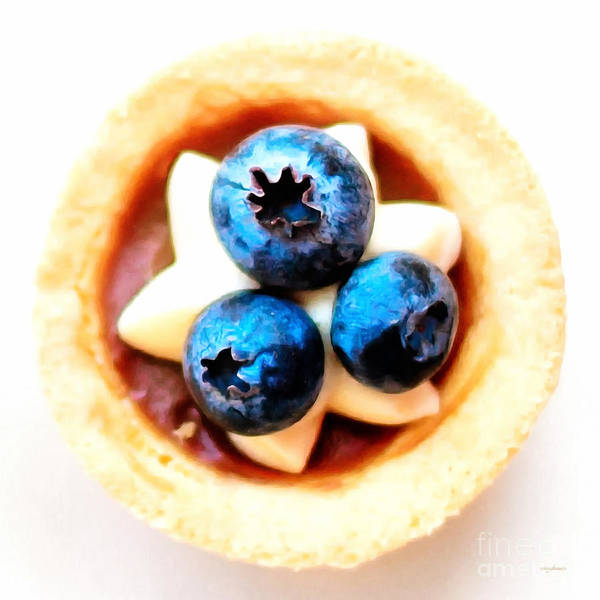 Photograph - Blueberry Cake Pastry Painterly 20170916 Square by Wingsdomain Art and Photography