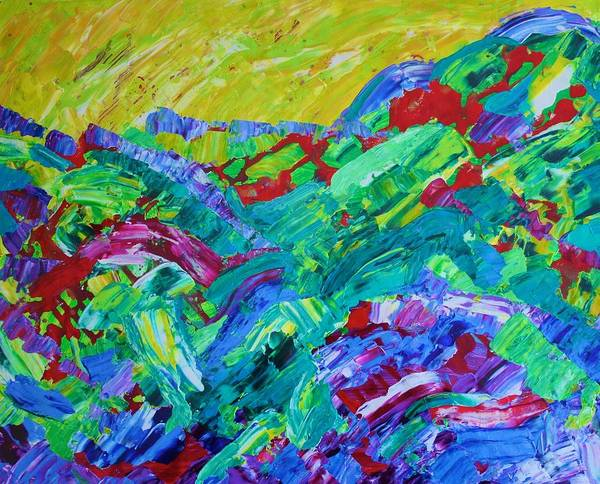 Painting - Blueberry Hill by Polly Castor