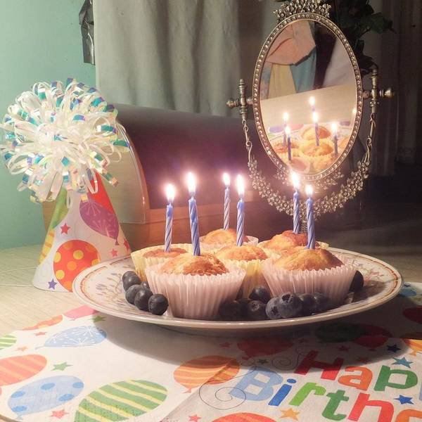 Photograph - Blueberry Muffin Birthday by Denise F Fulmer