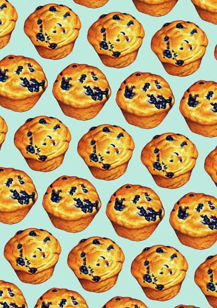 Wall Art - Digital Art - Blueberry Muffin Pattern by Kelly Gilleran