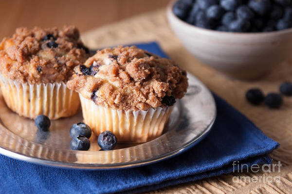 Photograph - Blueberry Muffins by Ana V Ramirez