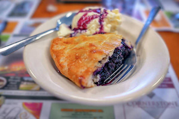 Photograph - Blueberry Pie At Moody's Diner by Rick Berk