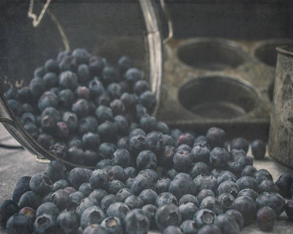 Photograph - Blueberry Tumble by Teresa Wilson