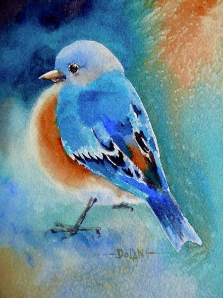 Painting - Bluebird #4 by Pat Dolan