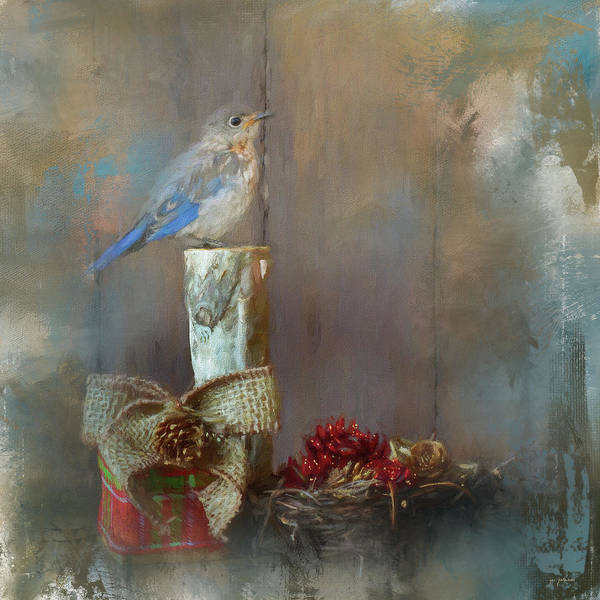 Photograph - Bluebird Country Christmas by Jai Johnson