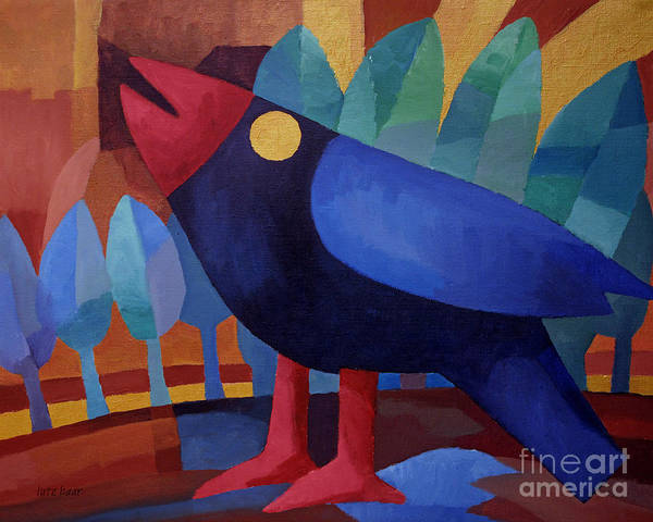 Painting - Bluebird by Lutz Baar