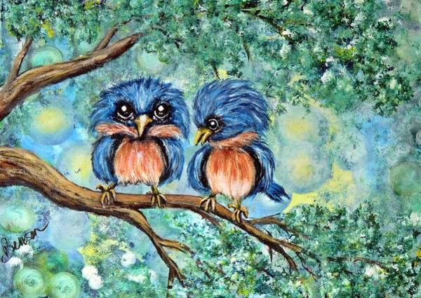 Me Too Painting - Bluebirds by Char Benson Arts