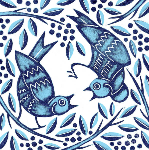 Wall Art - Painting - Bluebirds by Nat Morley