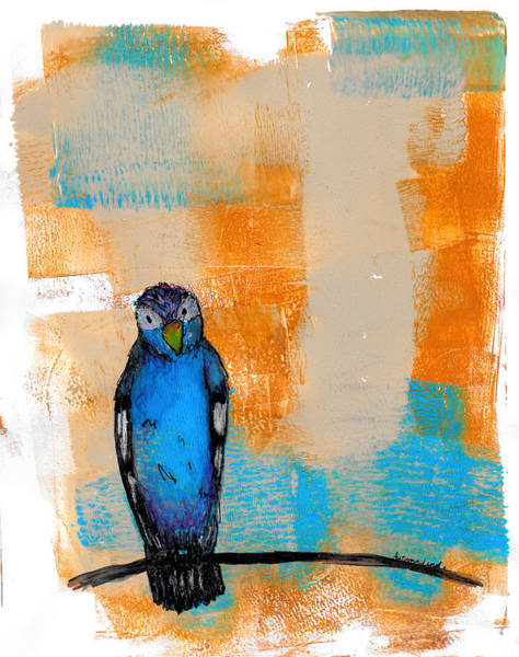 Bluebird Mixed Media - Blueburd Of Happiness by Autumn Linde
