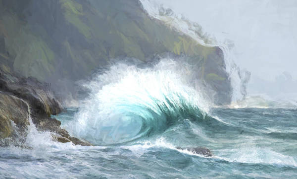 Digital Art - Blue Crash II by Jon Glaser