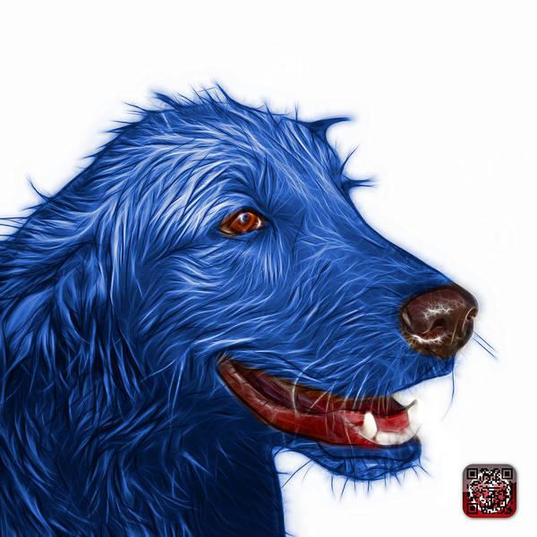 Painting - Bluee Golden Retriever Dog Art- 5421 - Wb by James Ahn
