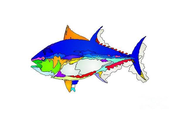 Digital Art - Bluefin Tuna  by Rafael Salazar
