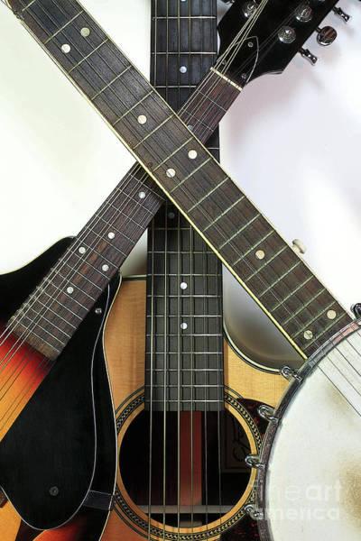 Digital Art - Bluegrass Instruments With Digital Effect by William Kuta