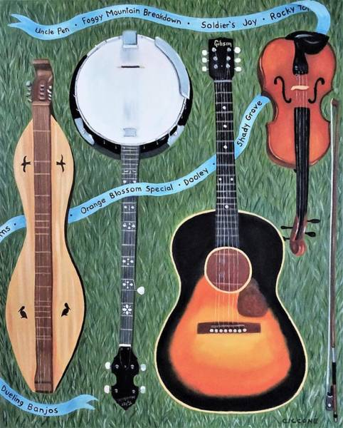 Painting - Bluegrass Tribute by Jill Ciccone Pike