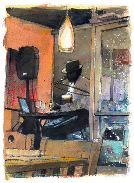 Jazz-funk Painting - Blues And Funk by George Evans