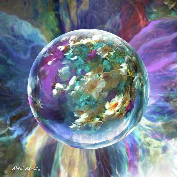 Digital Art - Blues Bouquet  by Robin Moline