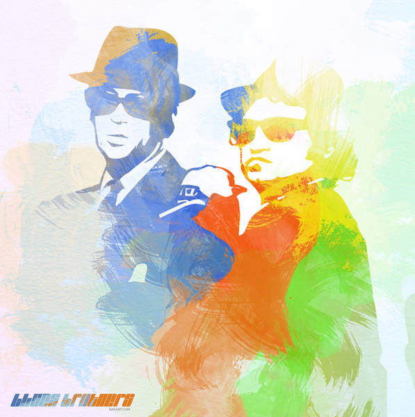 Brother Digital Art - Blues Brothers by Naxart Studio