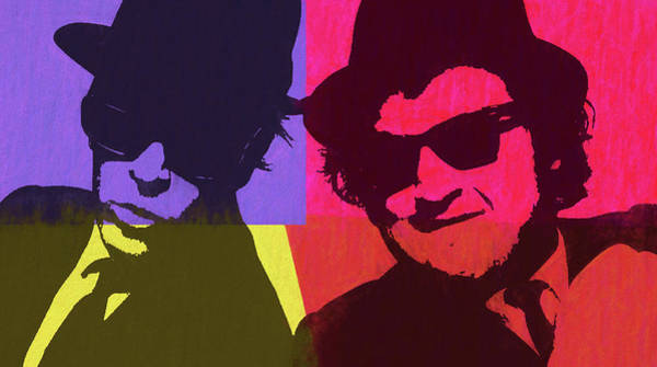 Wall Art - Mixed Media - Blues Brothers Pop Art Panels by Dan Sproul