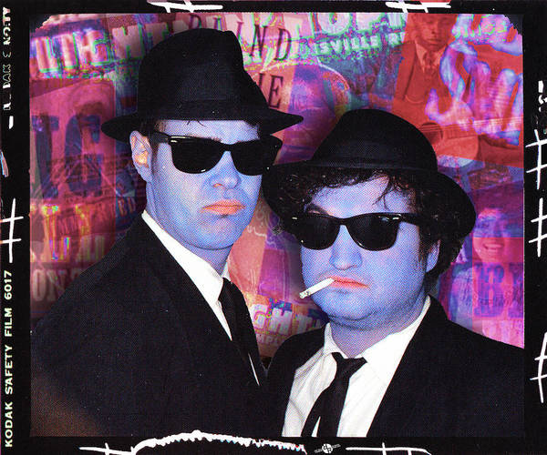 The Blues Brothers Painting - Blues Brothers Red by Tony Rubino