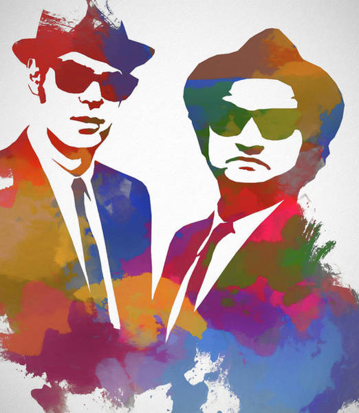 The Blues Brothers Painting - Blues Brothers Watercolor by Dan Sproul