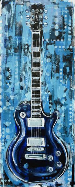 Painting - Blues Guitar by John Gibbs