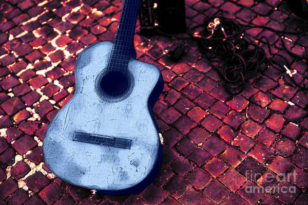 Wall Art - Digital Art - Blues Guitar by John Rizzuto