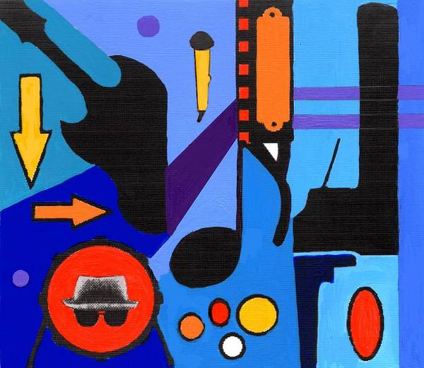 Painting - Blues1 by Joe Dagher