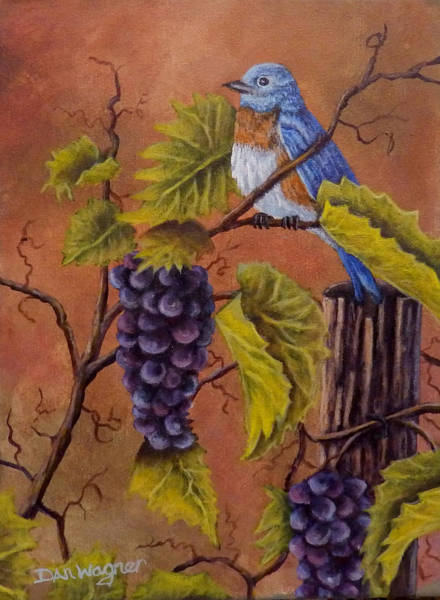Painting - Bluey And The Grape Vine by Dan Wagner