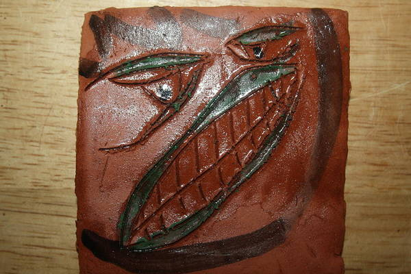 Ceramic Art - Bluff - Tile by Gloria Ssali