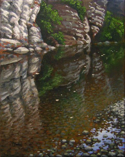 Wall Art - Painting - Bluff Reflections Buffalo River by Timothy Jones