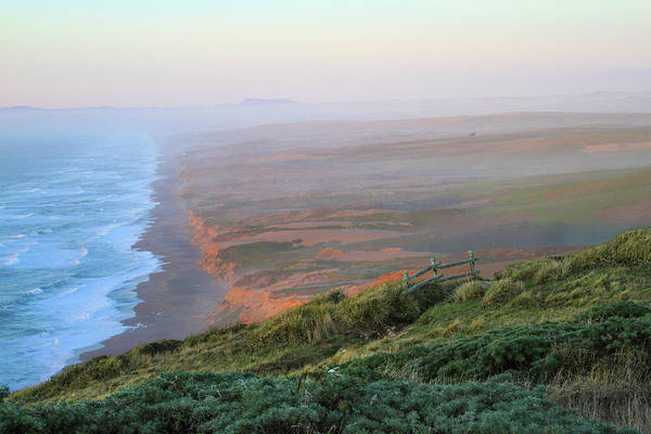 Photograph - Bluffs And South Beach Point Reyes by Bonnie Follett