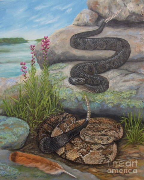 Painting - Bluffside Timber Rattler  by Sherri Anderson