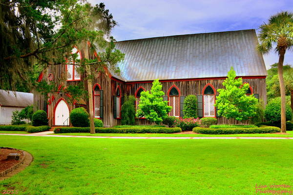 Photograph - Bluffton Sc Church Of The Cross by Lisa Wooten