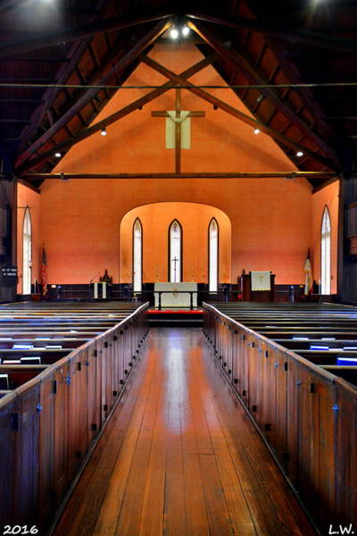 Photograph - Bluffton Sc Church Of The Cross Sanctuary by Lisa Wooten