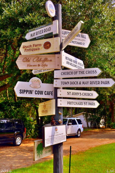 Photograph - Bluffton Sc Directions by Lisa Wooten