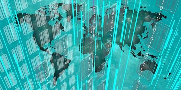 Digital Art - Bluish Future World by Alberto RuiZ