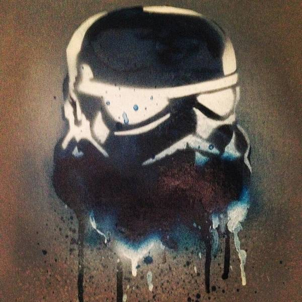 Episode 4 Wall Art - Painting - Blue Trooper Cult by Frankie Mcvay