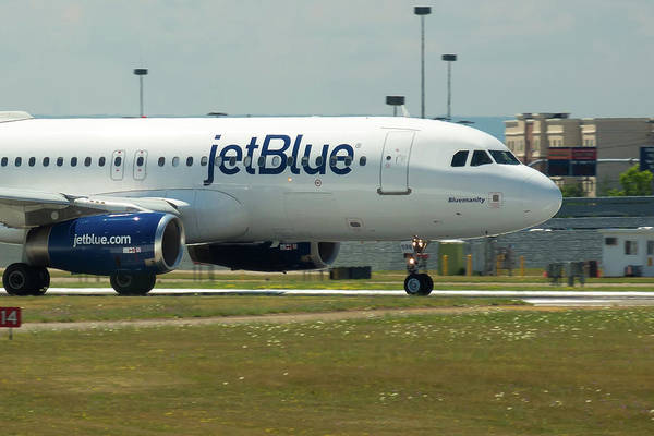 Jetblue Wall Art - Photograph - Blumanity by Guy Whiteley
